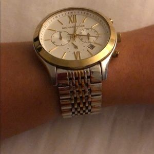 Michael Kors large silver/gold watch